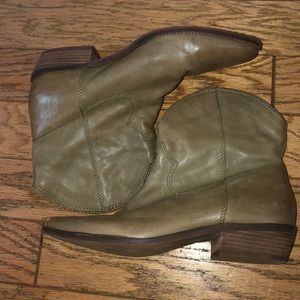 Nicole western style leather boots